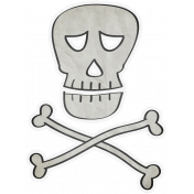 Chills & Thrills- Mini Skull Doodle