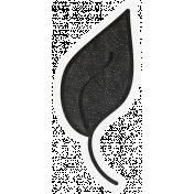 Chills & Thrills- Black Leaf Doodle