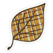 Chills & Thrills- Plaid Leaf Doodle