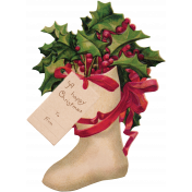 The Nutcracker- Holly Stocking Die Cut