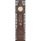 Nutcracker Doodle- Grandmother Clock