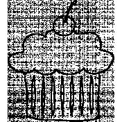 Cupcake Doodle Template 01