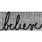 Believe Wordart Doodle Template 01