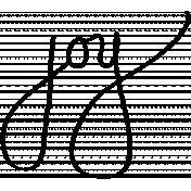 Joy Wordart Doodle Template 01