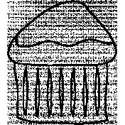Cupcake Doodle Template 02