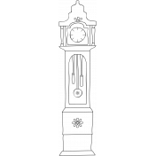 The Nutcracker- Grandmother Clock Doodle Template