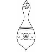 The Nutcracker- Ornament Doodle Template 2