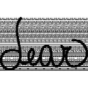 Dear Doodle Word Art Template