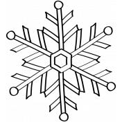 Snowflake Doodle Template 005
