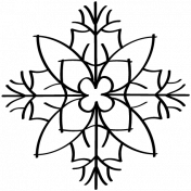 Snowflake Doodle Template 006