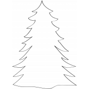 Tree Doodle Template 004