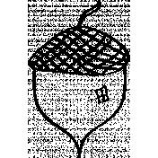 Acorn Doodle Template 001