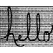 Hello Doodle Word Art Template
