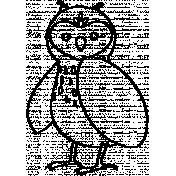 Owl Doodle Template