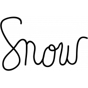 Snow Doodle Word Art Template