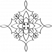 Snowflake Doodle Template 009