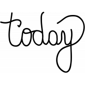 Today Doodle Word Art Template