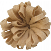 Woodland Winter- Brown Felt Flower