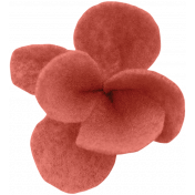 Woodland Winter- Coral Felt Flower