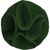 Woodland Winter- Dark Green Felt Flower
