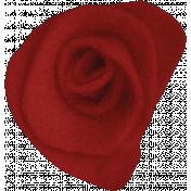 Woodland Winter- Red Felt Flower