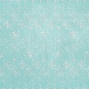 Woodland Winter-Blog Train Mini- Blue Snowflake Paper