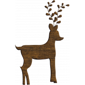 Woodland Winter-Blog Train Mini- Wood Buck