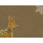 Woodland Winter- Deer Journal Card