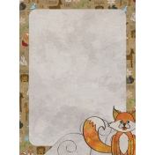 Woodland Winter- Fox Journal Card