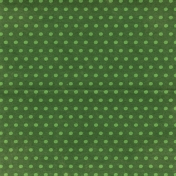 Woodland Winter- Green Dots Paper