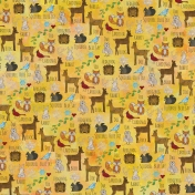 Woodland Winter- Yellow Animals Paper