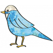 Woodland Winter- Bird Doodle