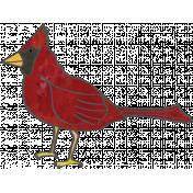 Woodland Winter- Cardinal Doodle