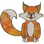 Woodland Winter- Fox Doodle