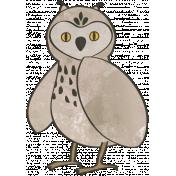 Woodland Winter- Owl Doodle