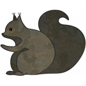 Woodland Winter- Squirrel Doodle