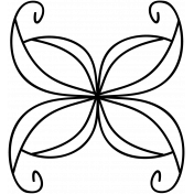 Butterfly Doodle Template 001
