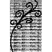 Foliage Doodle Template 001