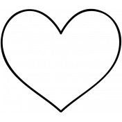 Heart Doodle Template 010