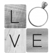 Love Word Art Template 001
