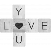 Love You Word Art Template