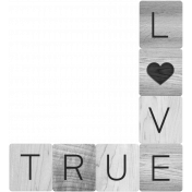 True Love Word Art Template