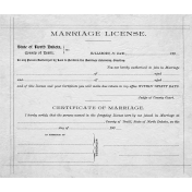 Marriage License Template