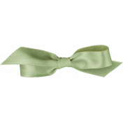 Rustic Charm- Green Bow