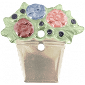 Rustic Charm- Flower Button