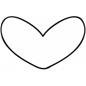 Heart Doodle Template 012