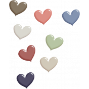 Rustic Charm- Heart Scatter