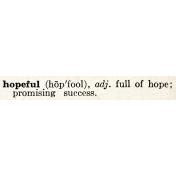 Rustic Charm- Hopeful Word Art