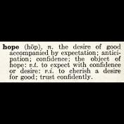 Rustic Charm- Hope Word Art