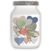 Rustic Charm- Jar of Hearts